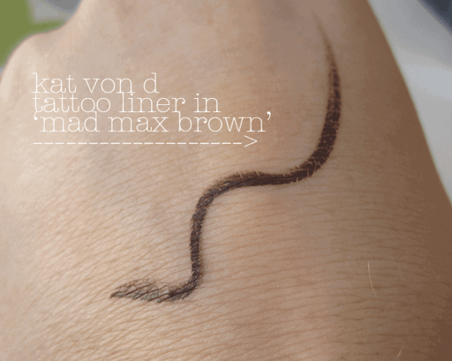 kat von d tattoo liner in mad max brown review and swatch