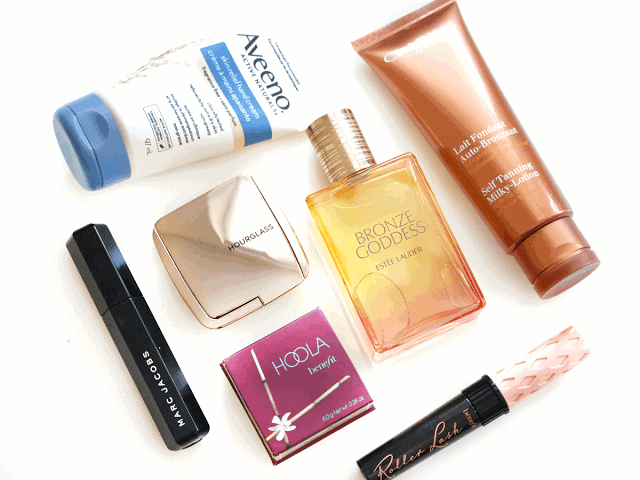 April Beauty Favourites Benefit, Clarins, Estee Lauder, Marc Jacobs, Hourglass, Aveeno