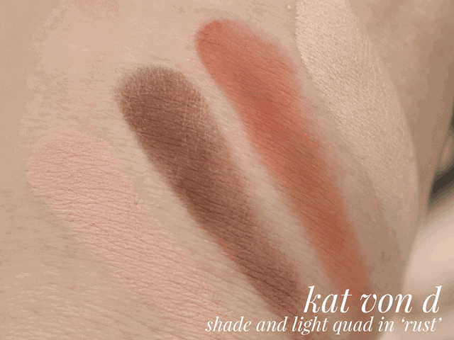 Kat Von D Shade+Light Eye Quad in Rust Review and Swatches