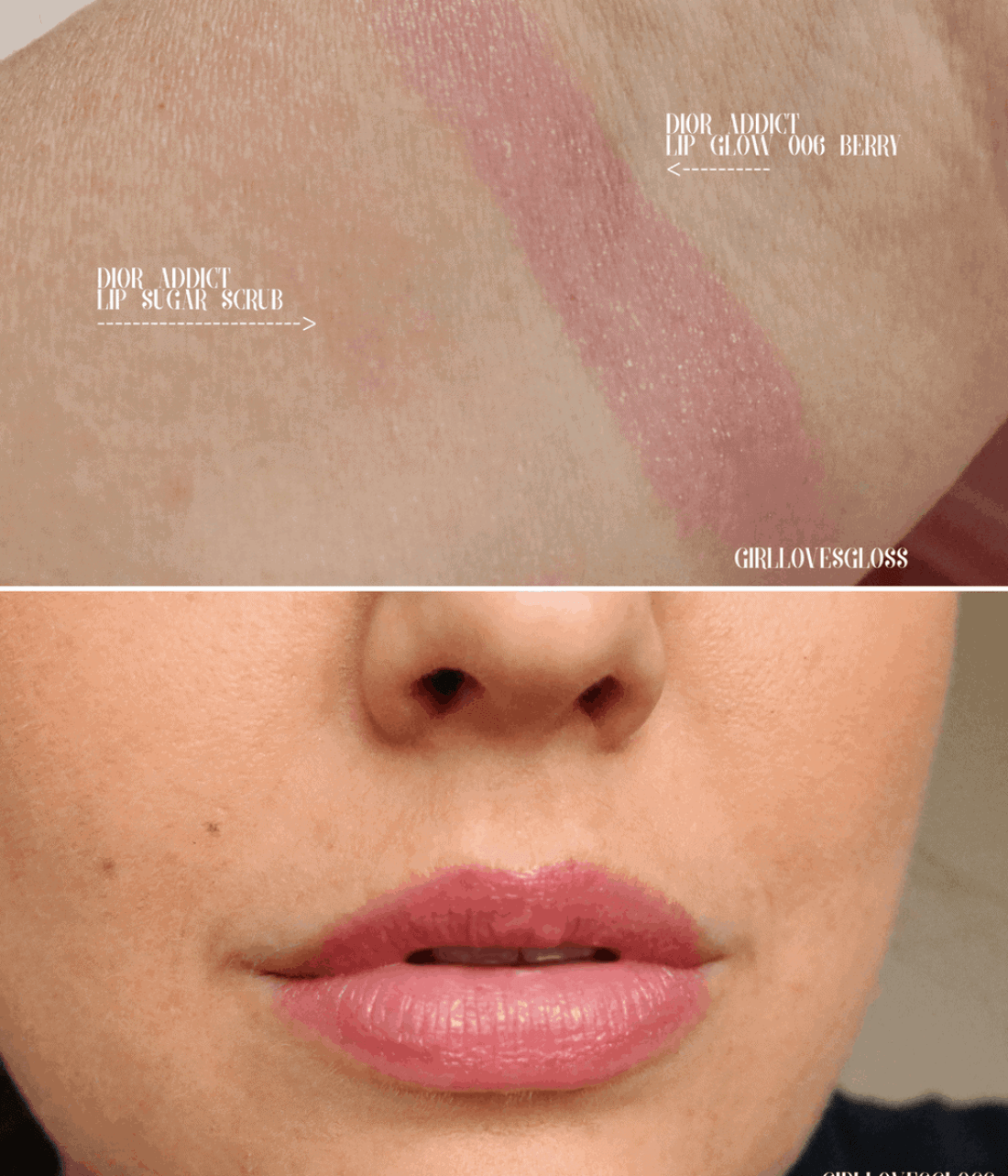 Dior Lip Glow and Lip Sugar Scrub Review and Swatches