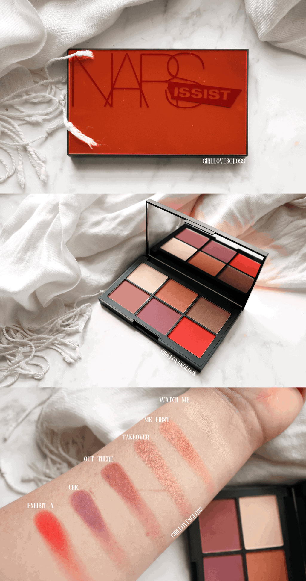 NARS Unfiltered 1 Palette Review and Swatches