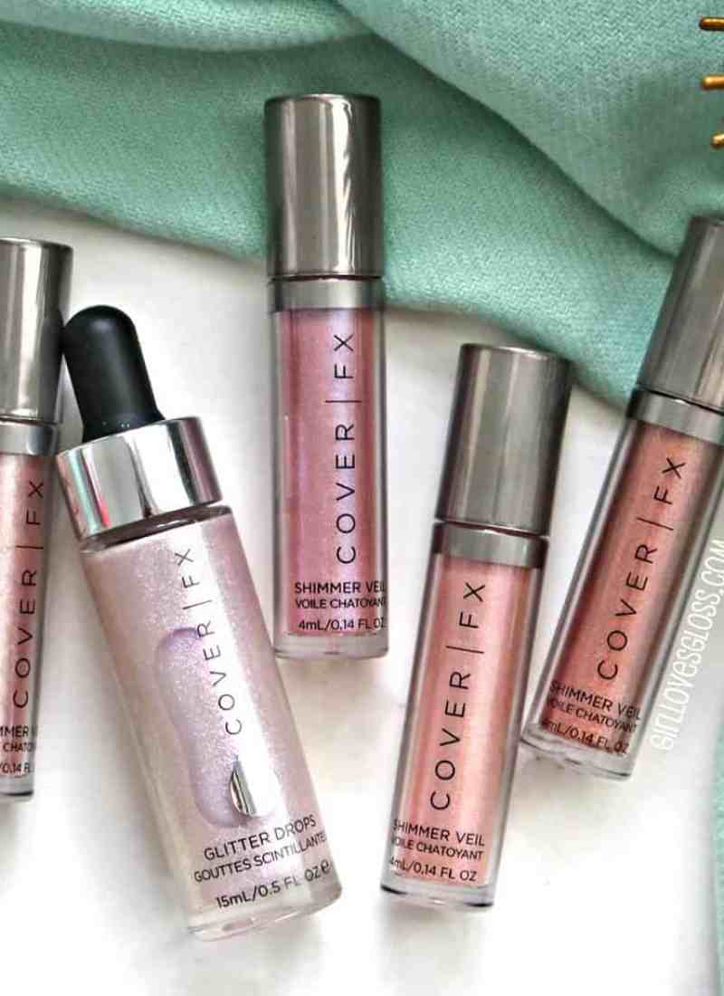 CoverFx Shimmer Veils and Glitter Drops Review