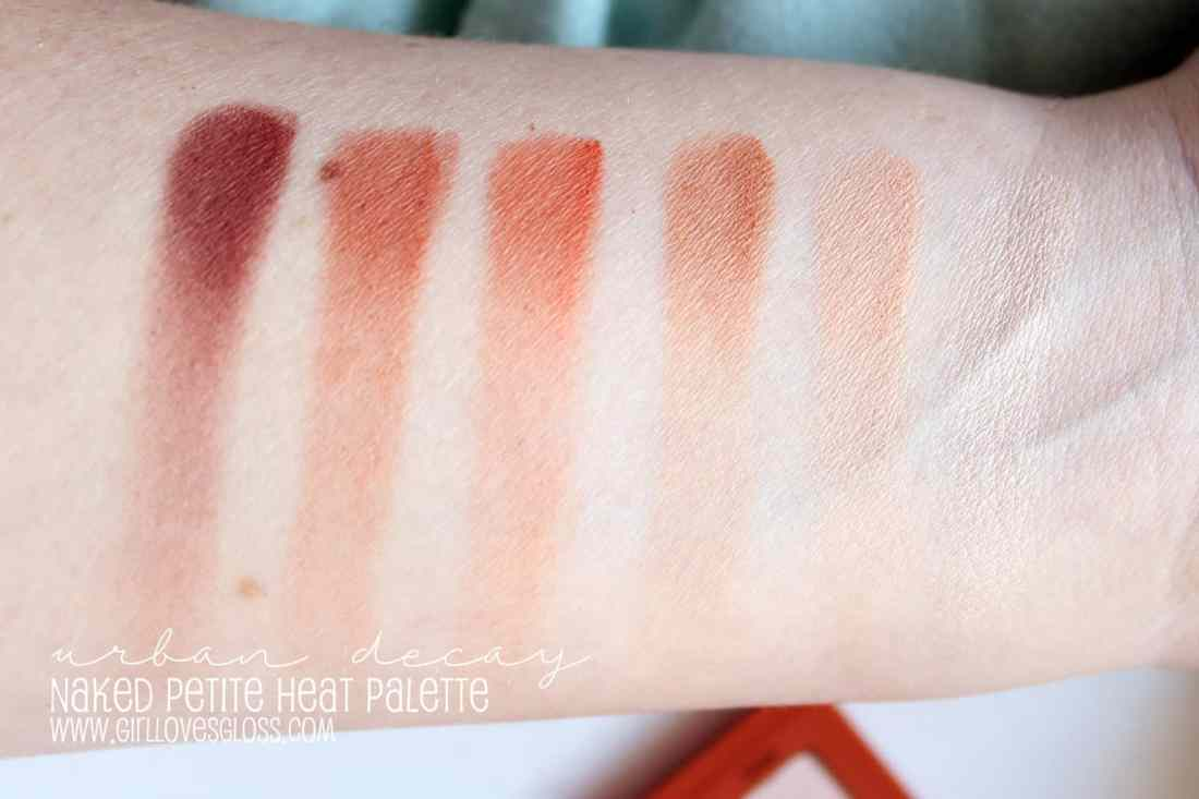 Urban Decay Naked Petite Heat Palette Review and Swatches
