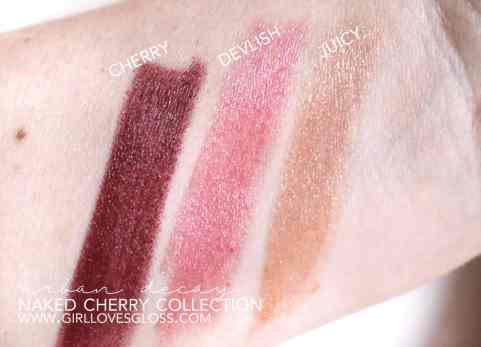 Urban Decay Naked Cherry Collection Review
