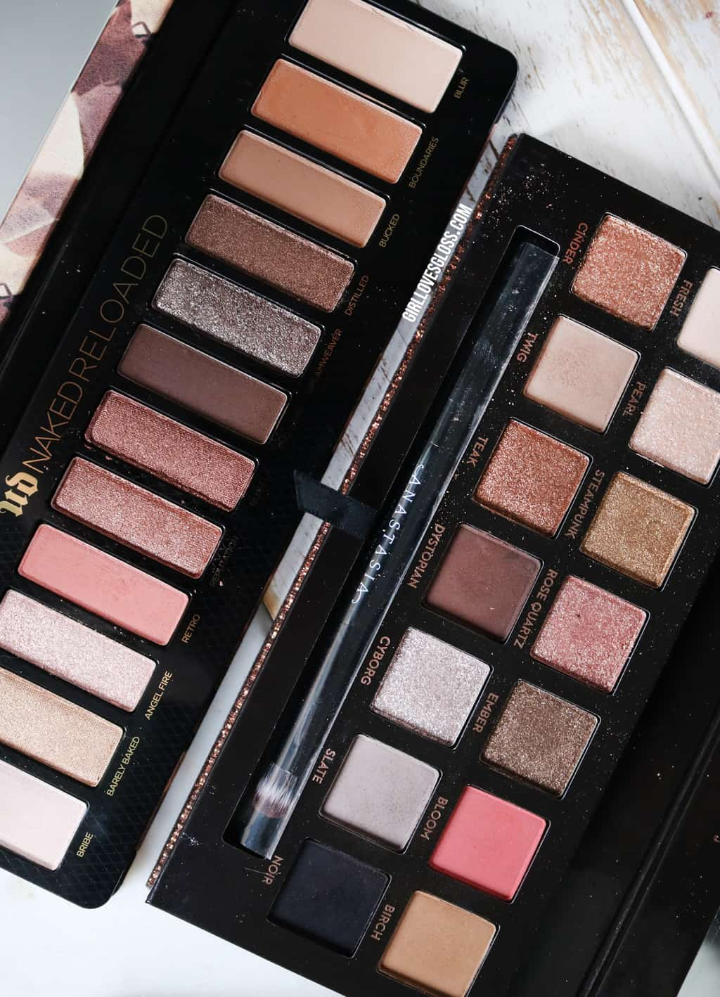Urban Decay Naked Reloaded vs Anastasia Sultry