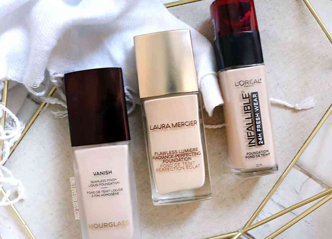 Trying the latest new foundations - Laura Mercier, Hourglass and L'Oreal