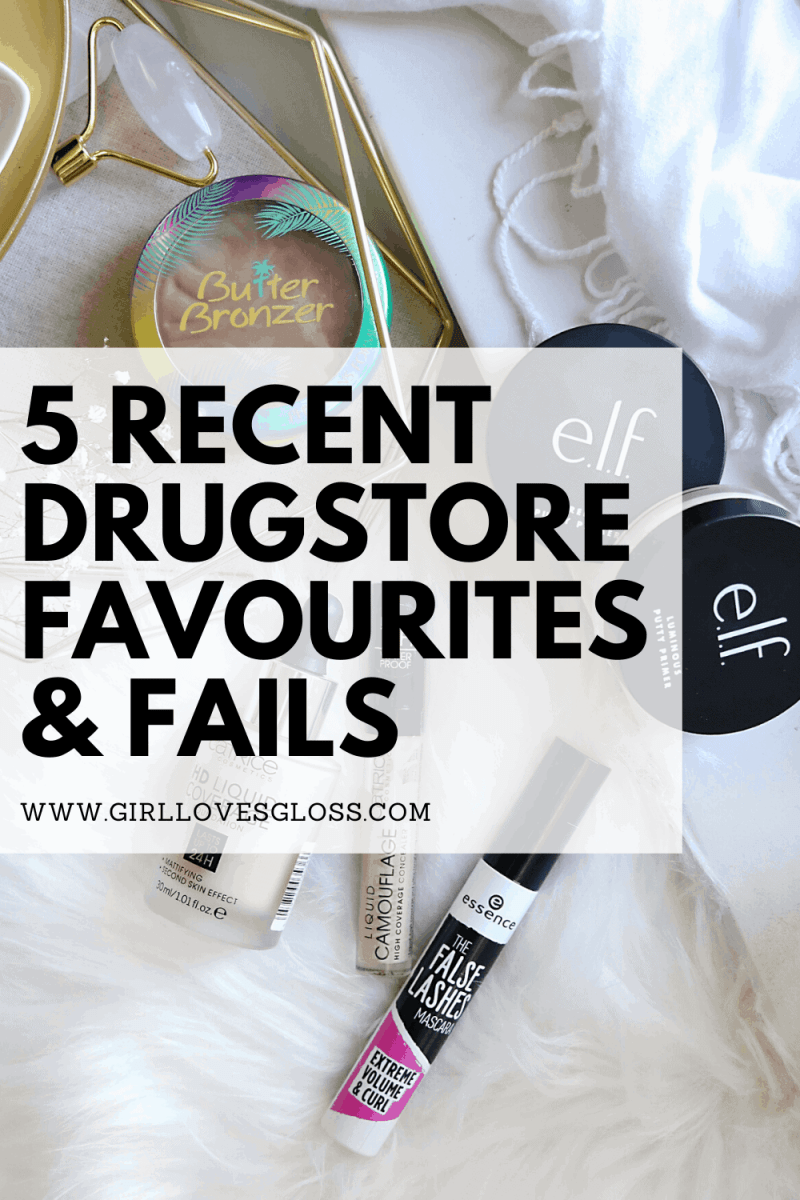Recent Drugstore beauty product favourites and fails