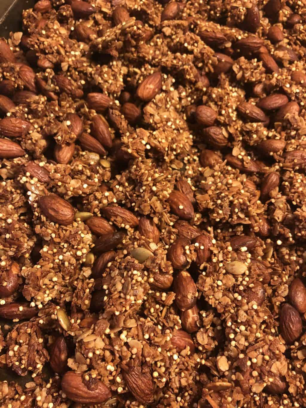 Quinoa Almond Granola Recipe
