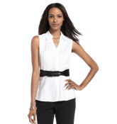 Alfani Top, Sleeveless Belted Shirt from Macy's