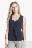 Tory Burch 'Claire' Stretch Silk Top from Nordstrom
