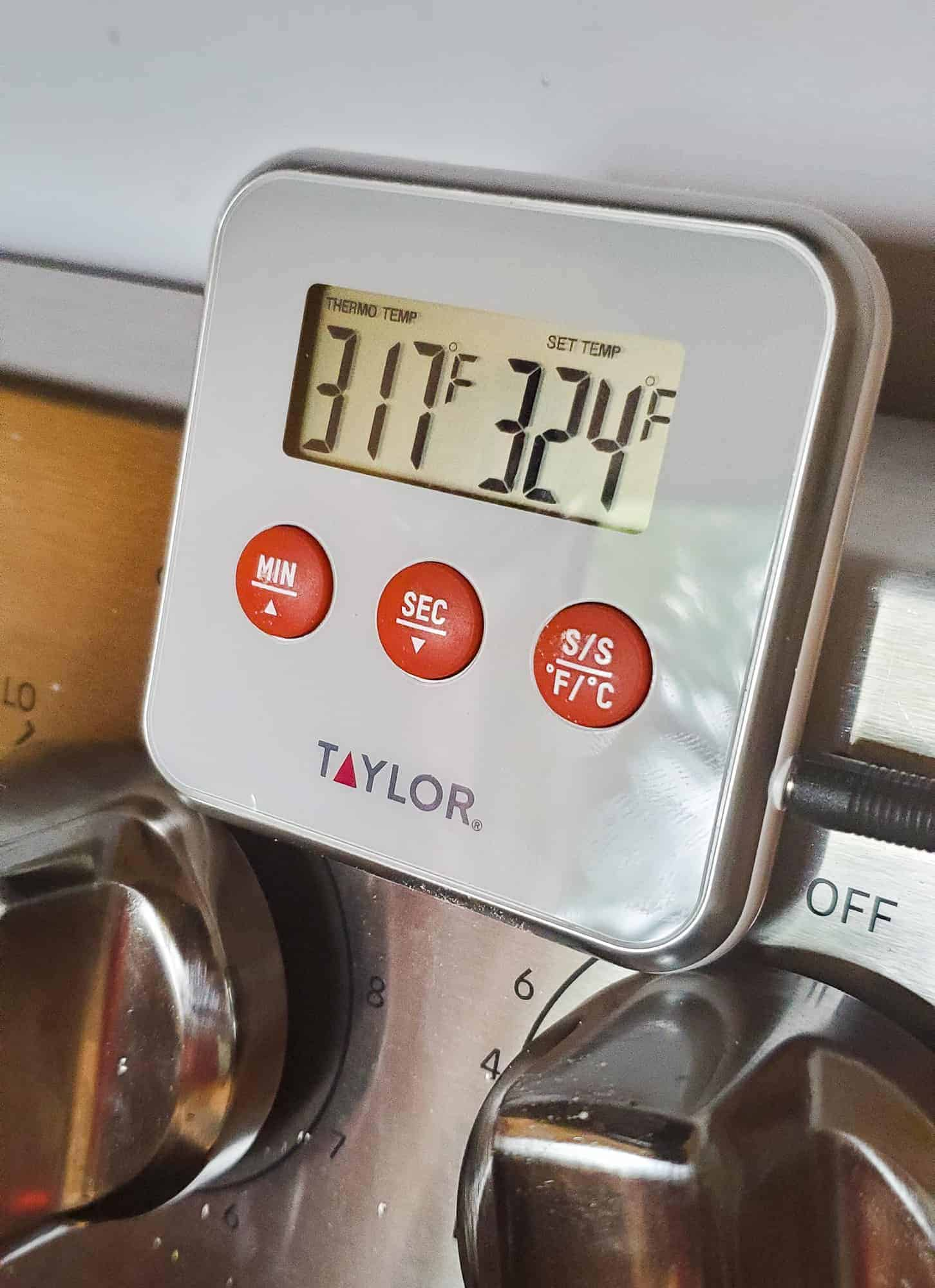 close up digital thermometers