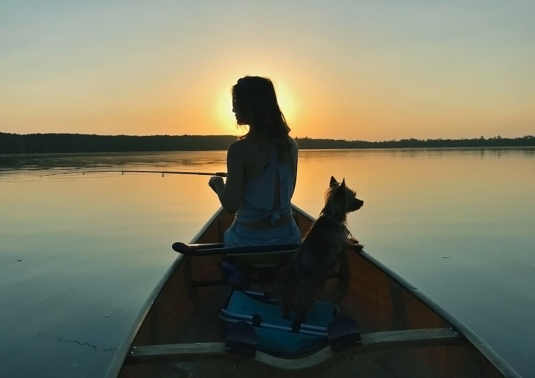 Girl of 10,000 Lakes Jenny Anderson and Kiwi fishing