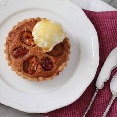 sugar plum and frangipane tart