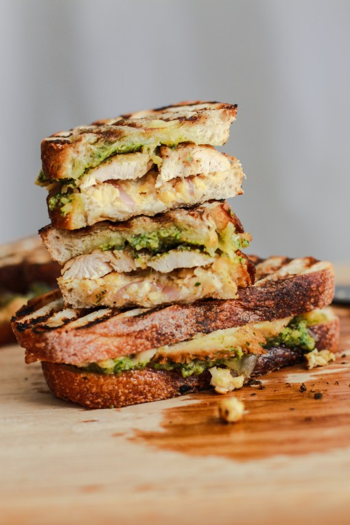 broccoli pesto panini www.girlontherange.com