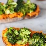 food on toast – roasted balsamic broccoli and sweet potato