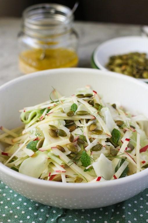 broccoli stem salad www.girlontherange.com