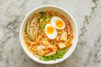 spicy kimchi ramen noodle bowl - Girl on the Range