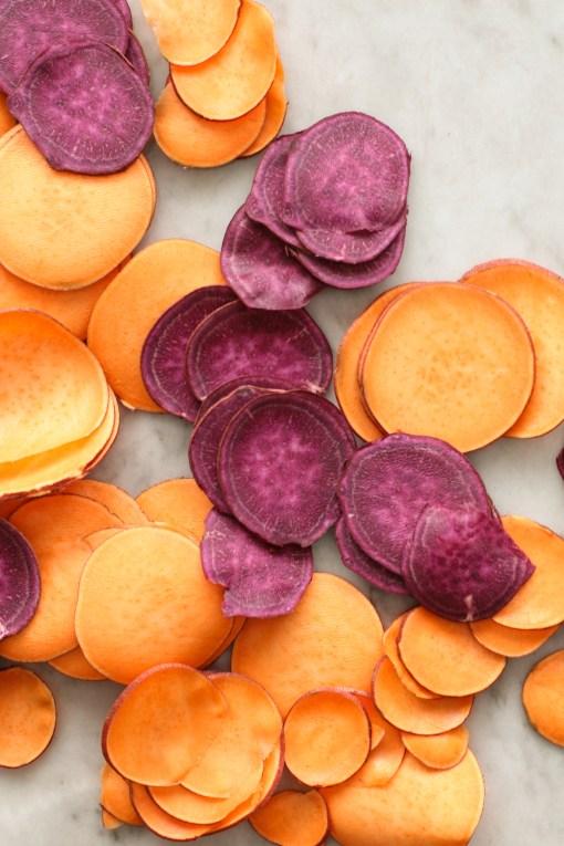 sweet potato slices www.girlontherange.com