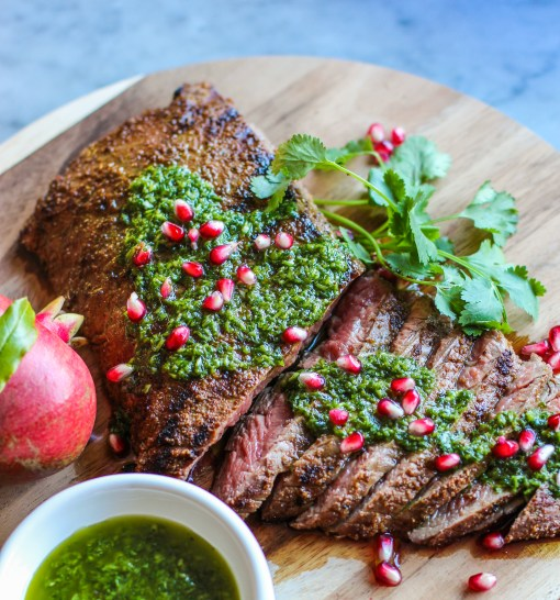 chimichurri steak sliced www.girlontherange.com