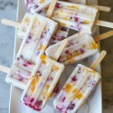 raspberry, mango and coconut popsicles
