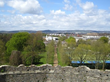 View from the top - Cardiff Castle Keep