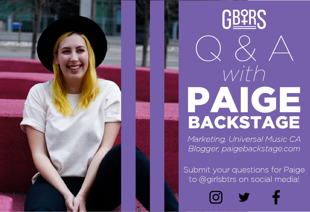 G.B.T.R.S. Question and Answer with Paige Williams of Paige Backstage