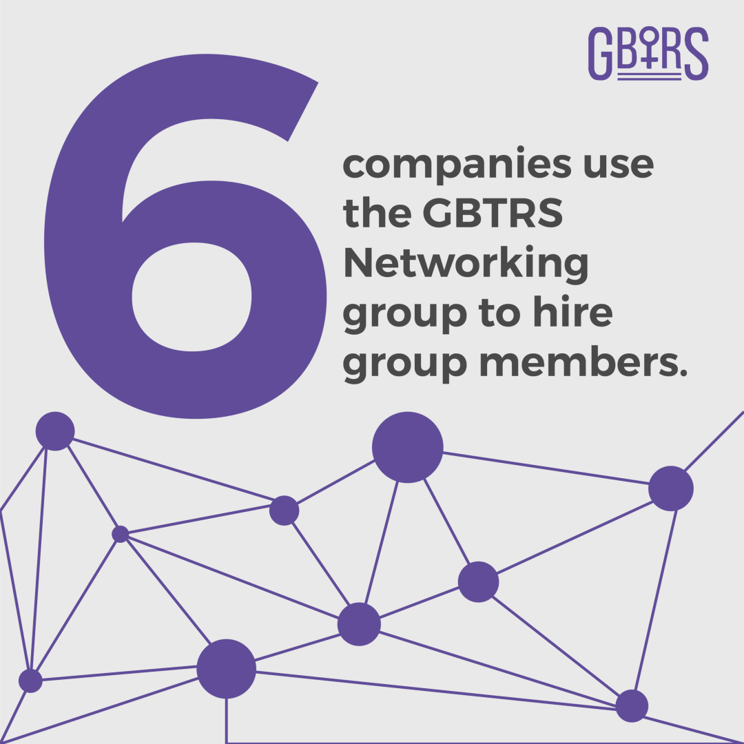 6 companies use the G.B.T.R.S. networking group to hire group members