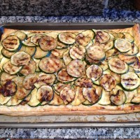 Courgette and ricotta summer tart