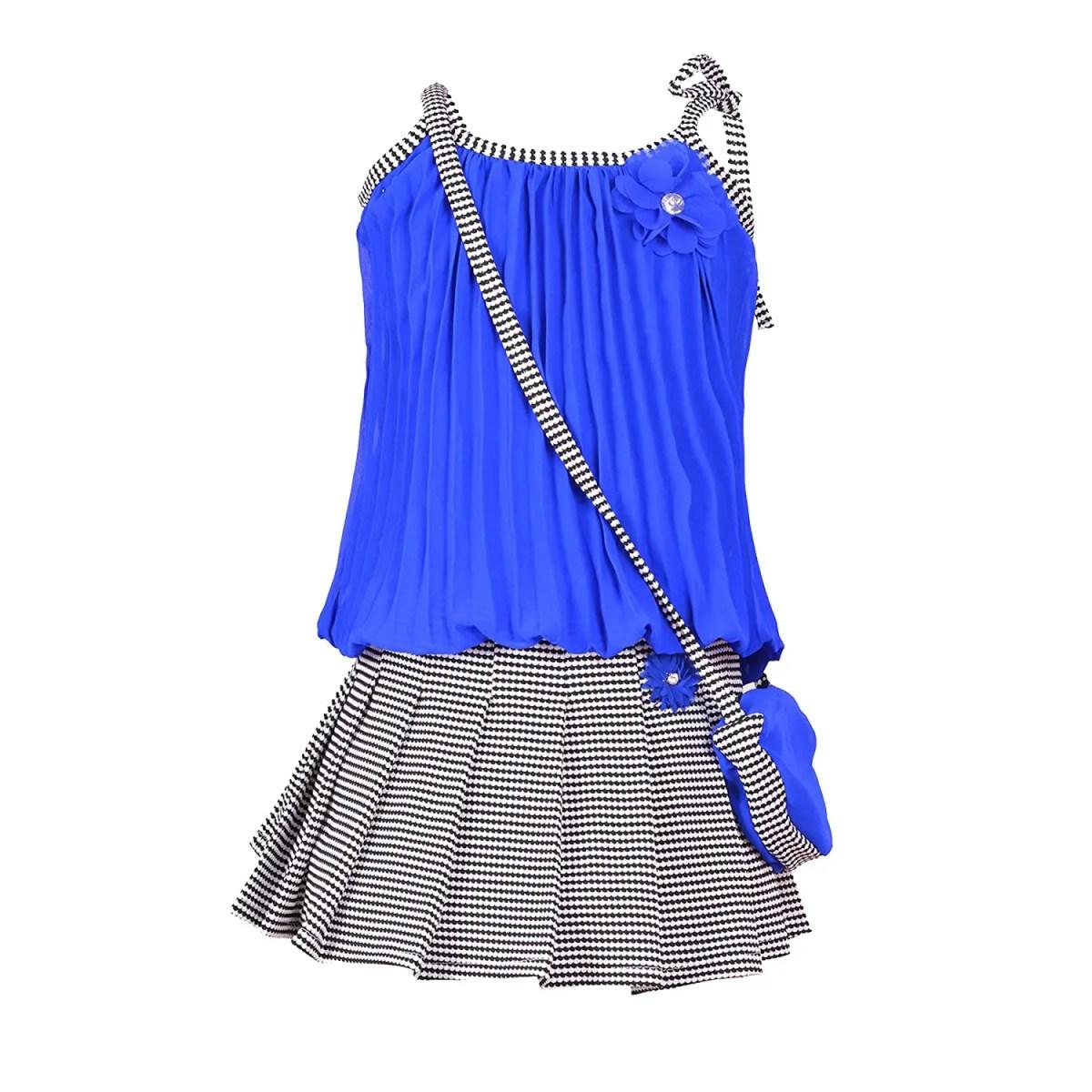 Girl's Self Design Top and Skirt Set
