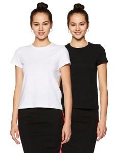 Women's Solid Regular Fit Half Sleeve T-Shirt