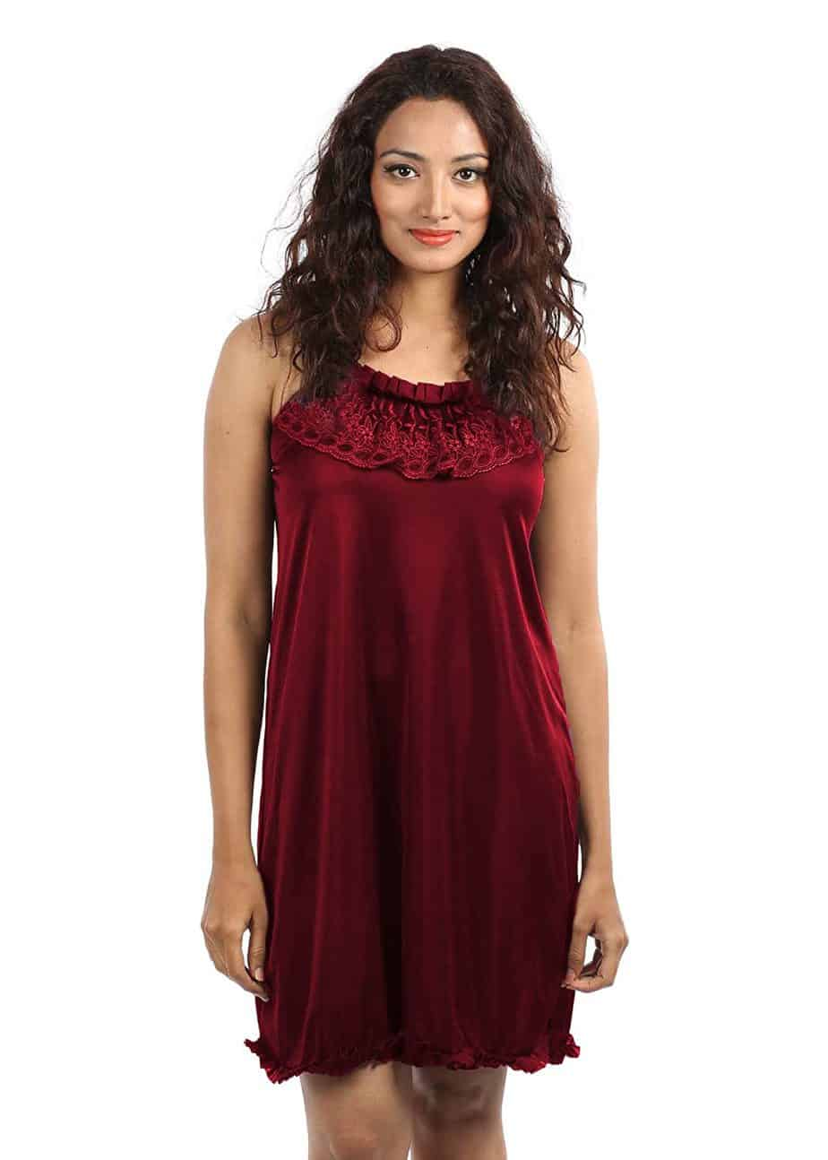Red babydoll dress for honeymoon