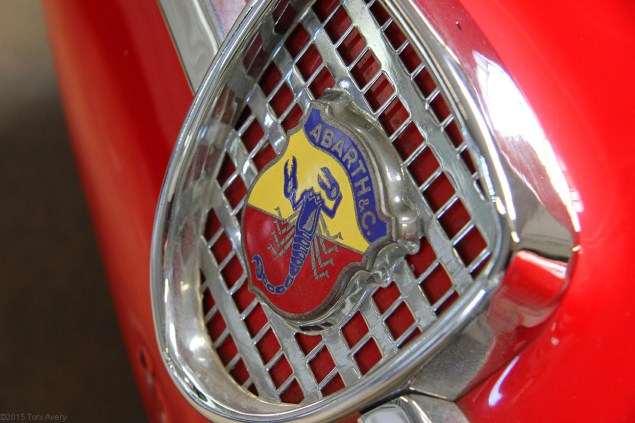 1960 Fiat Abarth Zagato Double Bubble front badge