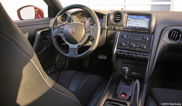2015 Nissan GT-R interior from rear