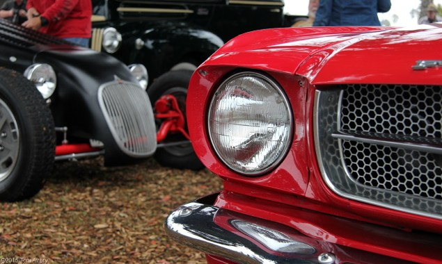 mustang front end detail