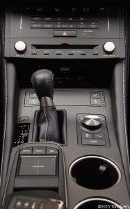 2015 Lexus RC-F Coupe center stack