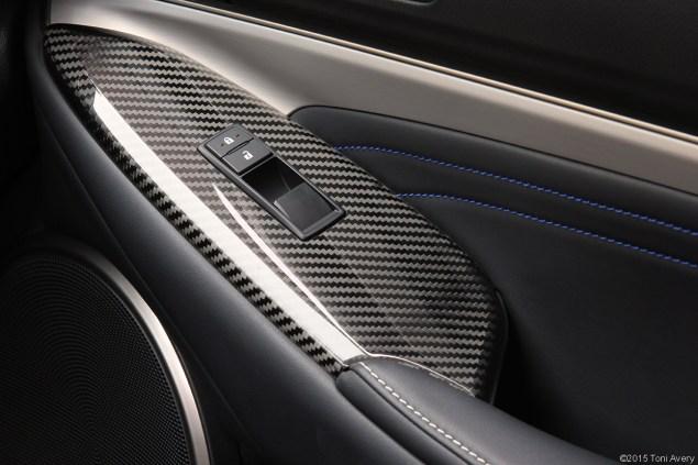 2015 Lexus RC-F Coupe door detail