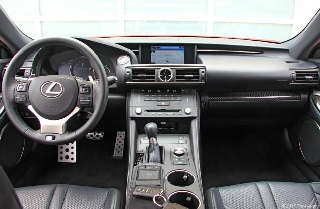 2015 Lexus RC-F Coupe interior