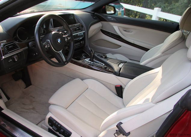 2016 BMW 650i Convertible interior