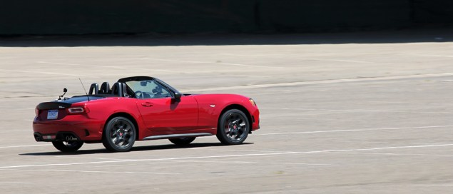 2017 Fiat 124 Spider Launch autocross 2