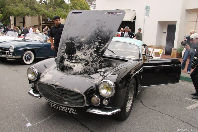 Concours on the Avenue unrestored Maserati front