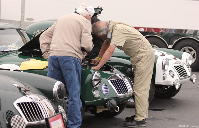 Rolex Monterey Motorsports Reunion working on MGs