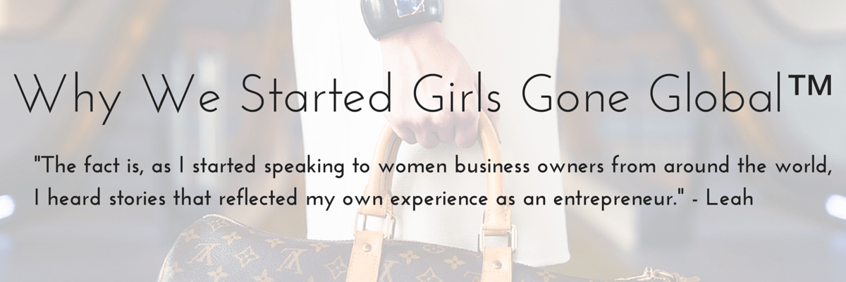 Why We Started Girls Gone Global™ - PGN Banner