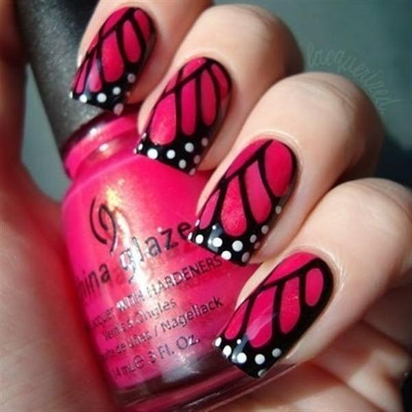Manicure Tips Tutorials And Photos By Super Black Nail Art Cannibal Red