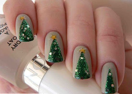 View Images Best Easy Simple Christmas Tree Nail Art Designs Ideas Supplies