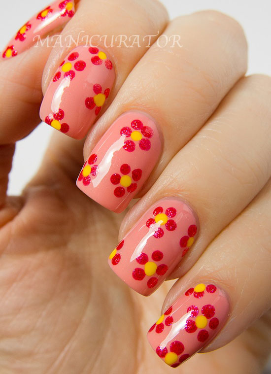 The Amusing Flower Nail Art Designs Pics