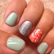 cool & easy summer nail design