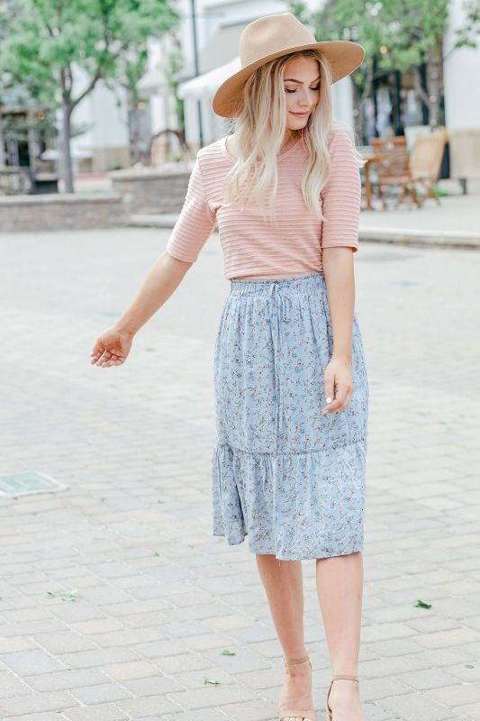 Knee length summer skirts