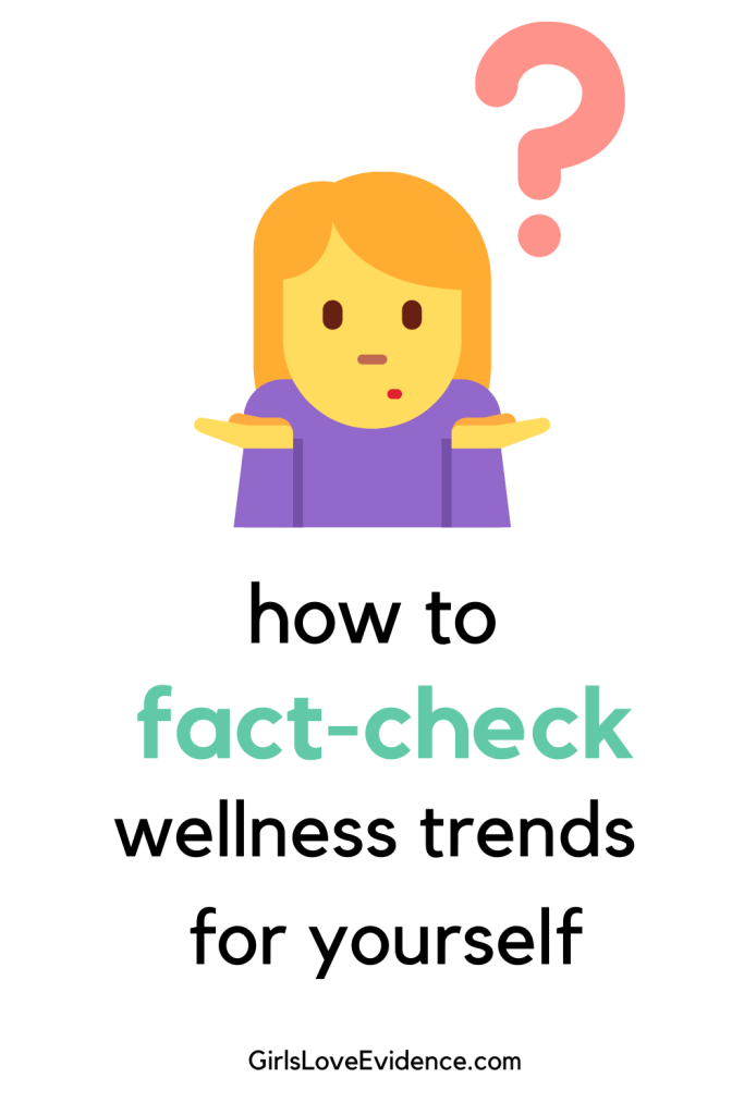 fact-check wellness trends for yourself