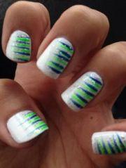 gameday nail art