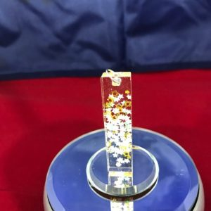 colorful stars resin pendant